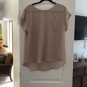 Tops - NWT beige shirt XL
